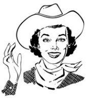 Lady Wearing Cowboy Hat