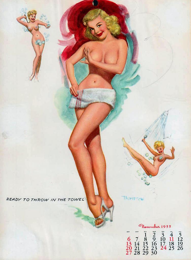November 1955 Pinup Calendar Girl